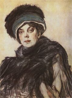 valentin serov Portrait of princess Olga Orlova, 1911