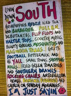 South! : )