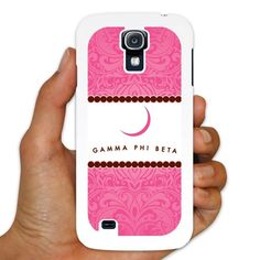 Gamma Phi Beta Samsung Galaxy S4 White Slim Case - Pink Lace Design