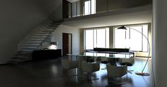 Office meeting room, virtual image, rendered with DomuS3D® and mental ray