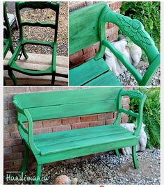 ¥ turn old chairs into a bench