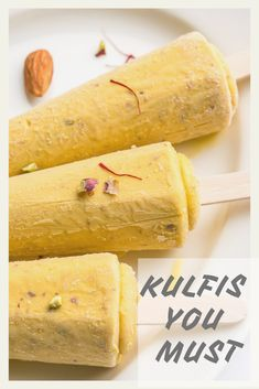 7 Mouth Watering Kulfi Recipes That You Must Try!- 7 Mouth Watering Kulfi Recipes That You Must Try! Mango Dessert Recipes, Indian Dessert Recipes, Sweets Recipes, Delicious Desserts, Cooking Recipes, Indian Sweets, Holi Recipes, Kulfi Recipe Condensed Milk, Kulfi Ice Cream Recipe
