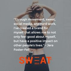 """""""Through movement, sweat, social media, and hard work, I've created a brand for myself that… http://sweat.slimclipcase.com"""