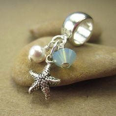 Starfish bracelet charm European beads by FlauntDesignsJewelry, $18.00