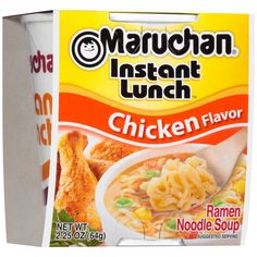 Maruchan Ramen Noodle Soup Mix with Chicken Flavor - ramen noodle recipe Yummy Noodles, Beef And Noodles, Maruchan Ramen Noodles, Eat On A Budget, Ramen Noodle Soup, Soup Mixes, Lunch To Go, Chicken Flavors, Noodle Recipes