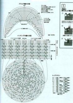 Схема вязания кепки крючком