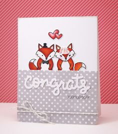 the Lawn Fawn blog: An Adorable Congrats Card by Yainea
