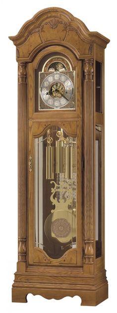 German Grandfather Clocks | ... Chime German Movement Grandfather Clock in Oak Finish - CHM1134