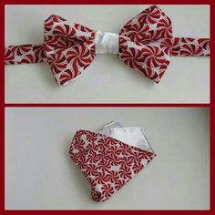 Peppermint Candy BowTie and Pocket Square.    www.mkt.com/candyjboutique