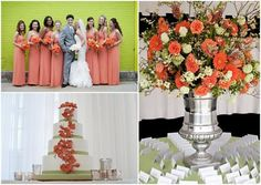 Orange and Green wedding palette by Snap photography