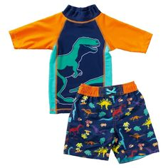 Great for the beach and pool. Cute Outfits For Kids, Cute Kids, Rash Guard, Swim Trunks, Kids Wear, Kids Fashion, Rompers, Bear, Swimwear