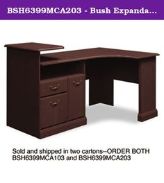 BSH6399MCA203 - Bush Expandable Corner Desk Solution B/F/D Box of 2 Syndicate. Durable melamine surfaces are dent- and scratch-resistant. Box/file pedestal with open storage area and enclosed CPU compartment. Drawers operate on full-extension ball bearing slides file drawer accommodates letter and legal size files. Elevated printer shelf. Integrated 4-port USB hub and charging station for portable devices. Color: Mocha Cherry Pedestal Count: 1 Top Shape: Corner Top Material: Melamine.