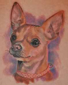Call me weird if you must but someday I really want my two baby Chihuahua's tatted on me. I love them soooo