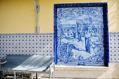 Azulejos Along The Douro Railway - via  ImageLegacy, Gail at Large 25.08.2014 | When visitors to Portugal ask me what sort of locally-made products would make good souvenirs, I make a point of suggesting azulejos, or Portuguese ceramic tiles. To me, they represent Portugal very well in terms of cultural value, artistic variety, their place in preserving Portuguese history, and their prevalence throughout the country. Photo: Pocinho Railway Station