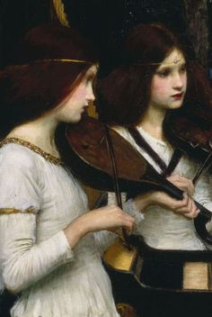 Saint Cecilia (detail) 1895 ~ John William Waterhouse  ISt Cecilia - saint of music