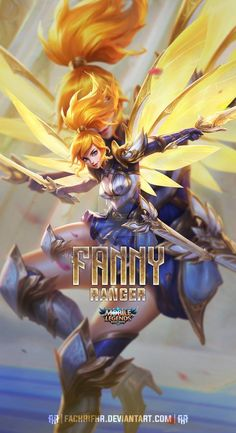 Fanny Lightborn Ranger by FachriFHR on DeviantArt Black Phone Wallpaper, Hero Wallpaper, Cellphone Wallpaper, Iphone Wallpaper, Bruno Mobile Legends, Miya Mobile Legends, Gaming Wallpapers, Cute Wallpapers, Bang Bang