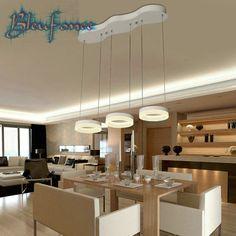 24 w/27 w led de la lámpara minimalista restaurante bar salón de acrílico luz luz personalidad creativa lámpara de techo de iluminación