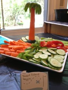 Not Your Normal Steam - Pirate party food, Desert Island Veggies