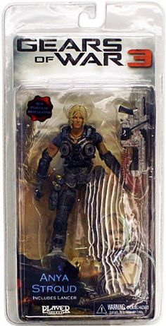 NECA Gears of War 3 Series 1 Action Figure Anya Stroud Lancer by NECA Toys. $16.50. Former Control dispatcher for Delta Squad, Anya is now a frontline fighting Gear herself. Defending the remnant of humanity has forged her into a tough and capable warrior ready to tackle anything that comes her way.This brand new figure stands nearly 6 3/4 tall and features over 30 points of articulation.Includes Lancer accessory.