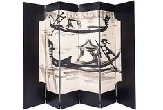 Venetian screen from a Tony Duquette sketch (1947)