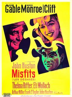 The Misfits   French movie poster, 1961