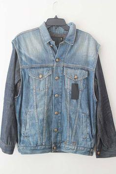 R13 Double Denim Jacket BLUE SIZE S SMALL $885 NEW | eBay Love Jeans, Double Denim, Jean Skirt, Jean Jackets, Vintage Accessories, Shorts, Stylish, Best Deals, Fashion Design
