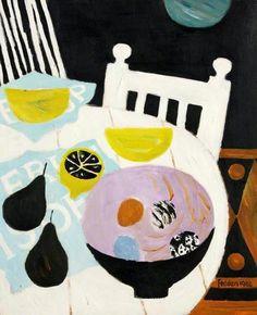 Mary Fedden, The Spanish Chair Cubist Painting Illustrations, Illustration Art, Paintings I Love, Beautiful Paintings, Still Life Art, Art Uk, Art Graphique, Map Art, Love Art