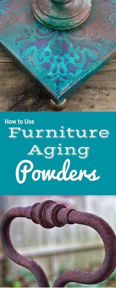 How to Use Furniture Aging Powders - Rust Dust Effect! This is a great Technique by Thicketworks for The Graphics Fairy! Great for DIY Home Decor and Farmhouse Style Projects!