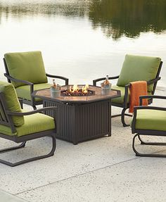 have to have it rioja collection aluminum chat set with fire pit