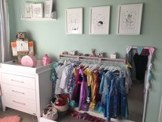 Pastel pink painted ikea spice racks used to make a dressing up rail for my daughters bedroom. She loves it 💓 Paint Ikea Spice Rack, Ikea Spice Rack Hack, Spice Rack Uses, Spice Racks, Kids Bedroom, Bedroom Ideas, Forest View, Roomspiration, Toy Rooms