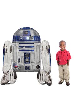 Perfect for any fan of the Star Wars films (young or old! The ultimate Star Wars party decoration. Star Wars R2d2, Disney Star Wars, Star Wars Party Supplies, Kids Party Supplies, Star Wars Party Food, Star Wars Balloons, Foil Balloons, Disney Pixar Cars, Costume Halloween