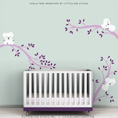 Violet Wall Decal Kids Baby Nursery Lavender by TheKoalaStore, $79.00