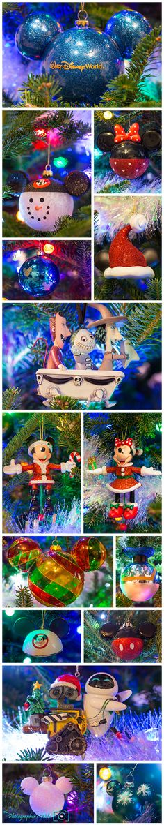Our Disney Christmas tree ornaments!! Disney-themed tree and decorations - LOVE it!