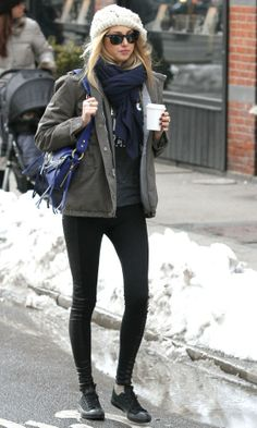 Whitney Port Wearing Her Utility Military Jacket Around New York, 2010 *