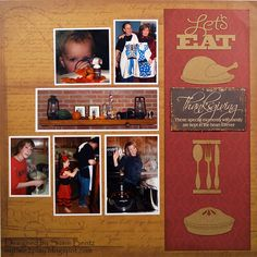 Blog Quick Quotes: Let's Eat Thanksgiving Layout featuring Cracklin' Rose and chipboard elements
