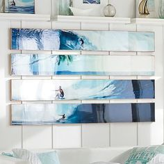 Kelly Slater Bamboo Panel Planked Art and Set #pbteen