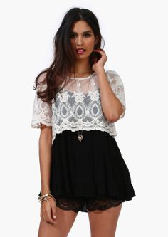 Lace Chase Top//