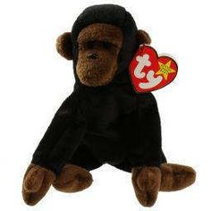 cda612ee9b7 Ty Vintage Beanie Baby - Retired - Congo Gorilla - 1996 - Mint Condition by  MNValuables