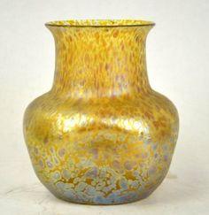 Loetz Gold & Iridescent Art Glass Vase