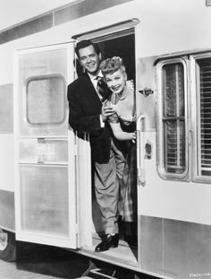 a TOTAL glamping movie :) one of my favs! so cute and vintage with Ricky & Lucy!   Lucille Ball and Desi Arnaz in their hit film The Long, Long Trailer (1953)
