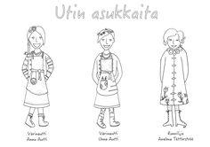 Värityskuva, Värinautti Annu Autti, Värinautti Unna Autti ja runoilija Anelma Töttörströö Image, Art, Art Background, Kunst, Gcse Art