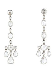 Tiffany & Co. Platinum Diamond Cobblestone Earrings