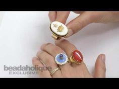 How to Make Colorful Rings with 2-Part Resin and Pigment In this video tutorial for Beadaholique, guest designer Becky Nunn of Nunn Design shows how to create colorful rings using 2-part resin and pigment. You can take this technique and adapt it in so many ways to make a wide variety of really unique jewelry pieces.