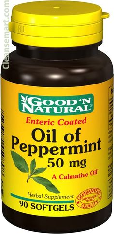 peppermint oil capsules, peppermint oil supplement,