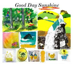 """Good Day Sunshine"" by glassdreamshawaii ❤ liked on Polyvore featuring art"