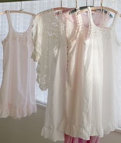 Delicate Dreaming In Our New Nighties. Crochet nighties available in-stores (for last minute Mother's Day gifts) & shabbychic.com
