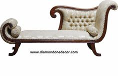 """""""The Recamier"""" Fabulous Baroque French Reproduction Louis XV Rococo Victorian Chaise Lounge Wedding Sofa"""