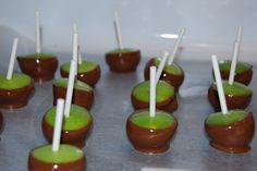 Mini caramel apples. maybe for a fall wedding