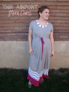This could easily be altered to non-maternity! mad mim maternity sewing_airport maxi dress