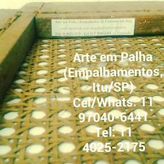 Arte em Palha (Empalhamentos, Itu/SP) Cel/Whats: 11 97040-6441 Tel: 11 4025-2175 Instagram: #arteempalha  #cadeira #caning #palhinha #restore #caning #canespotting #chair #chaircaning #retro #restore #rejilla #silla #decor #decorhome #decorate #decoração #decorations #interiors #instadecor #furniture #craft #handmade #makeover #tardeboa #tardelinda #tarde #boatardeee #boatardee #goodafternoon #follow4follow
